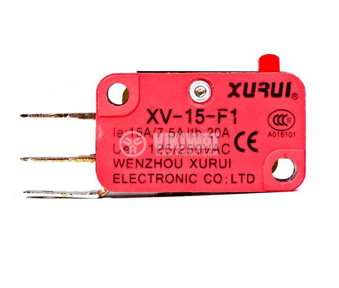 Микрек XV-15-F1, 7.5 A, 250 V, незадържащ - 1
