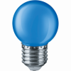 LED лампа 1W, E27, G45, 220VAC, мини сфера, синя, BA70-0125 - 3