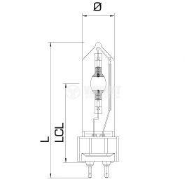 Metal-halide lamp G12, 70W, 0.9A, green - 2