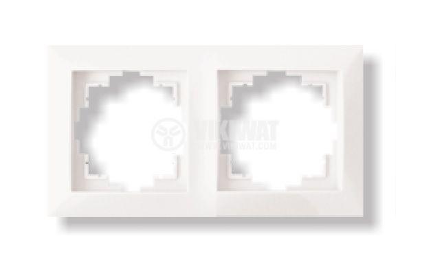 Рамка 2-на LEXA, бяла
