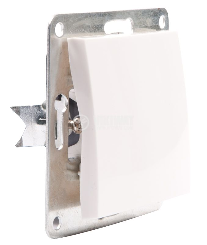 Electric Switch, white, LEXA 250 VAC, 10 A - 3