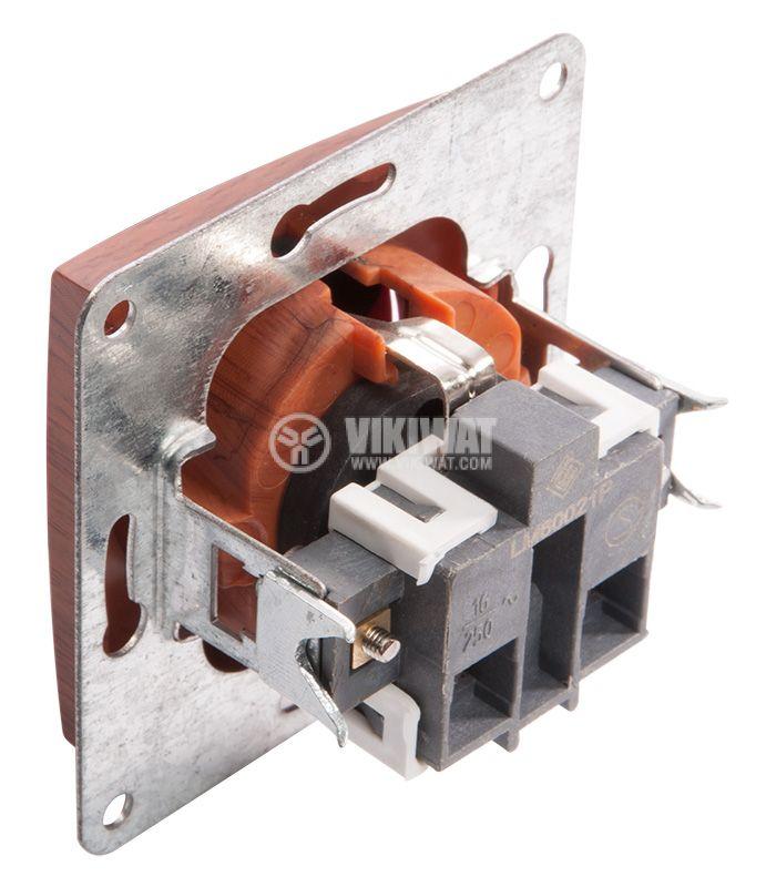 Електрически контакт 16A, 250VAC, дървесен - 2