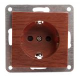 Electric socket, LM60021P, built-in, 16A, 250VAC, in-line