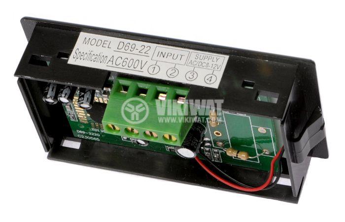 Digital voltmeter, 0-600V AC, SFD-69 - 2