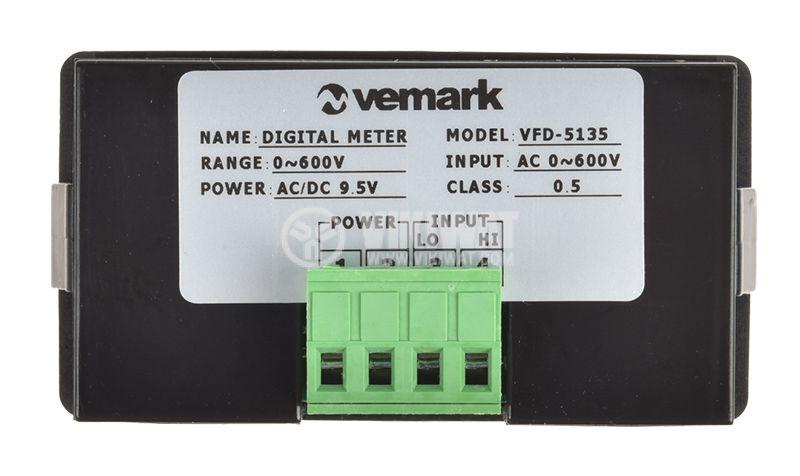 Digital voltmeter, 0-600V, AC, VFD-5135 - 2