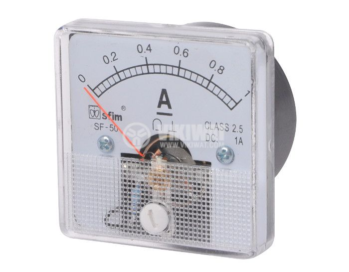Ammeter, 0-1 A, DC, 50x50 mm, SF-50 - 1