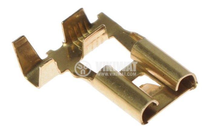 Auto female terminal 8.5x0.8mm, 90°, F - 2