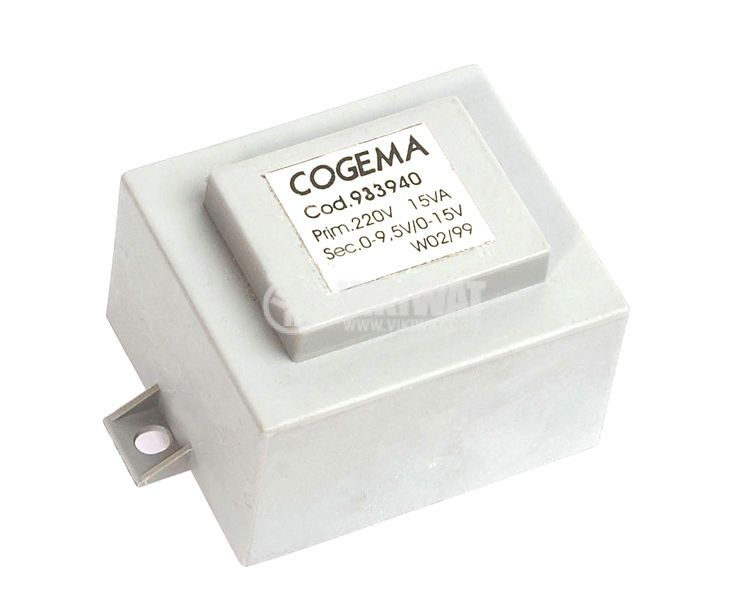 Трансформатор 220 / 9.5 + 15 VAC, 15 VA - 1