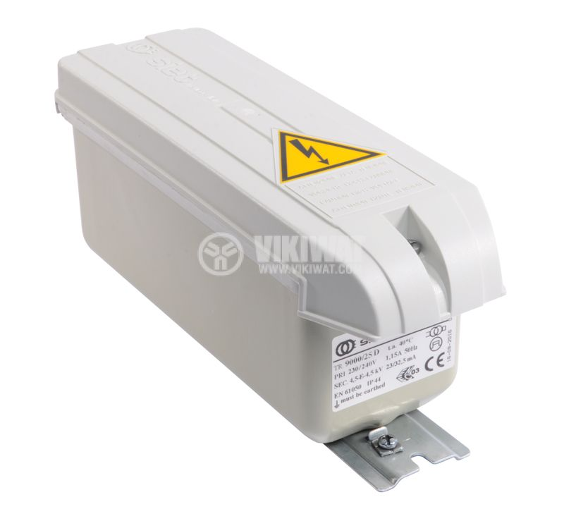 Transformer 9000/25D, 9kVAC, for supplying neon to 20m.