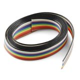Multicolor flat cable 10x0.5mm2