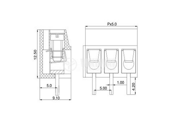 PCB,терминален,блок - 4
