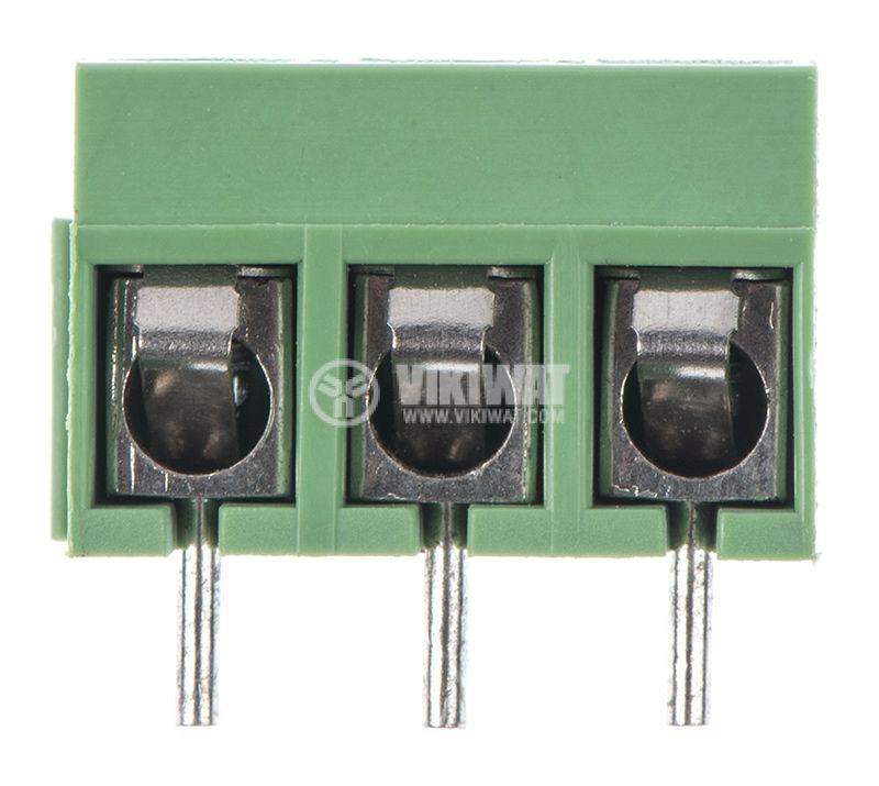PCB терминален блок, с изолационни прегради, 3 пина, 16А, за печатен монтаж - 1