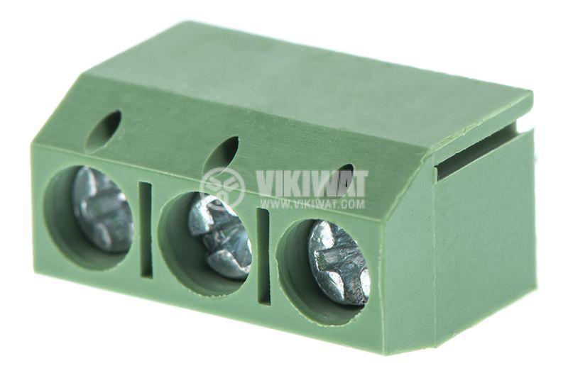 PCB терминален блок, с изолационни прегради, 3 пина, 16А, за печатен монтаж - 2