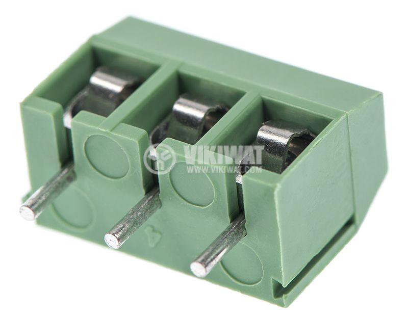 PCB терминален блок, с изолационни прегради, 3 пина, 16А, за печатен монтаж - 3