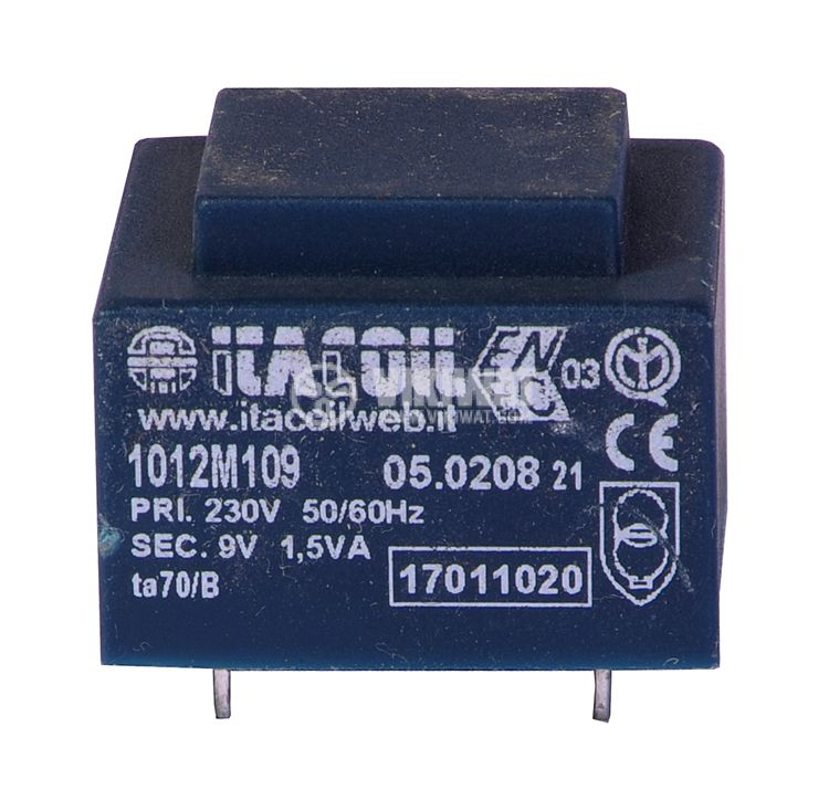 Трансформатор за печатен монтаж 230 / 9 VAC, 1.5 VA - 1