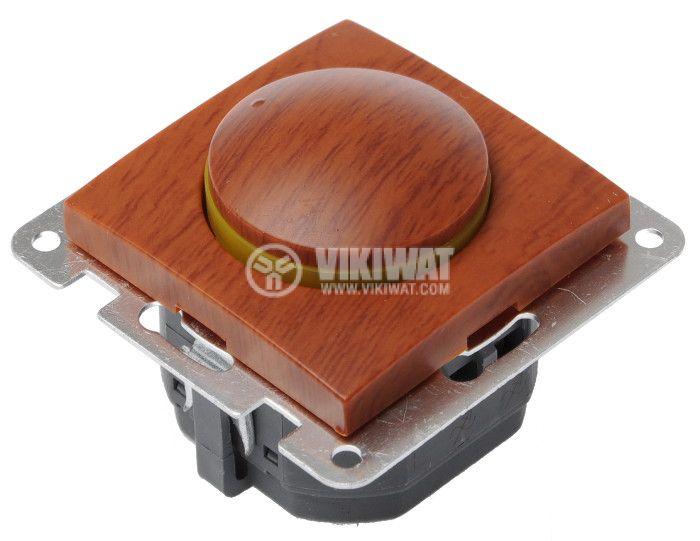 Електрически ключ, LEXA LM, вграждане, димер, 2A, 250VAC, дървесен, светещ