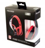 Microlab K360 Lightweight Stereo Headset - MIC-K360-BK  - 7