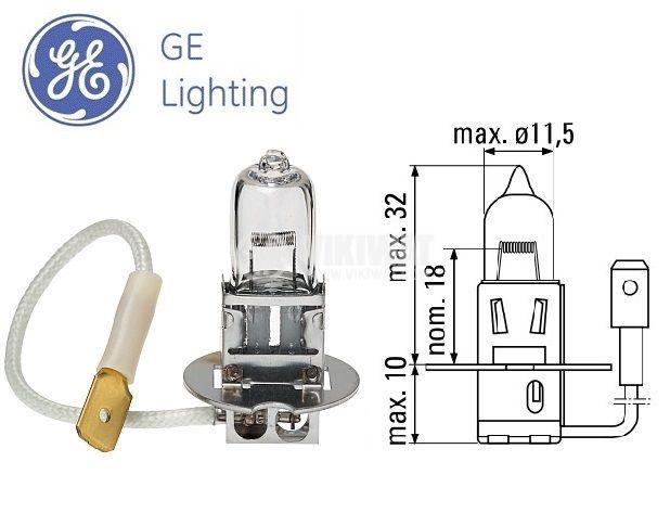 Auto Halogen Lamp, H3, 24V, 70W, PK22s - 1