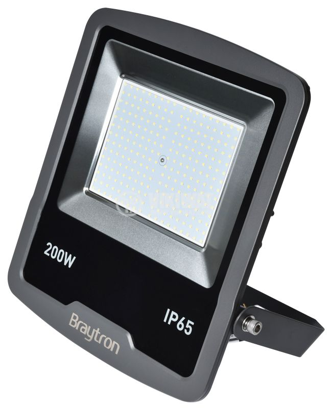 LED floodlight 200W, 220VAC, 16000lm, 3000K, warm white,  IP65, waterproof, SLIM, BT61-09602 - 5