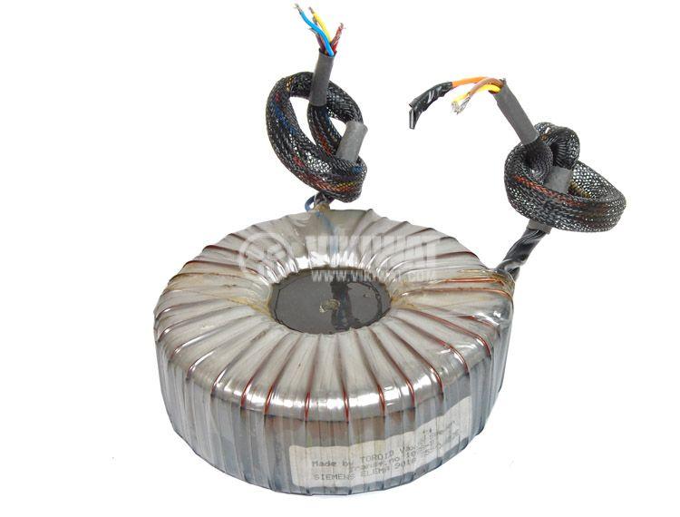 Toroidal transformer 110 + 110 VAC, 14 + 160 + 200 VAC 800 VA