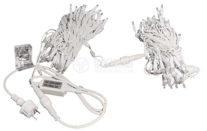 Christmas decoration lighting type rope, 20m, 9.2W, 230V, warm white, IP44, 120 LEDs - 2