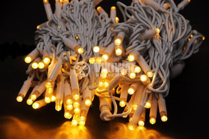 Christmas decoration lighting type rope, 20m, 9.2W, 230V, warm white, IP44, 120 LEDs - 3