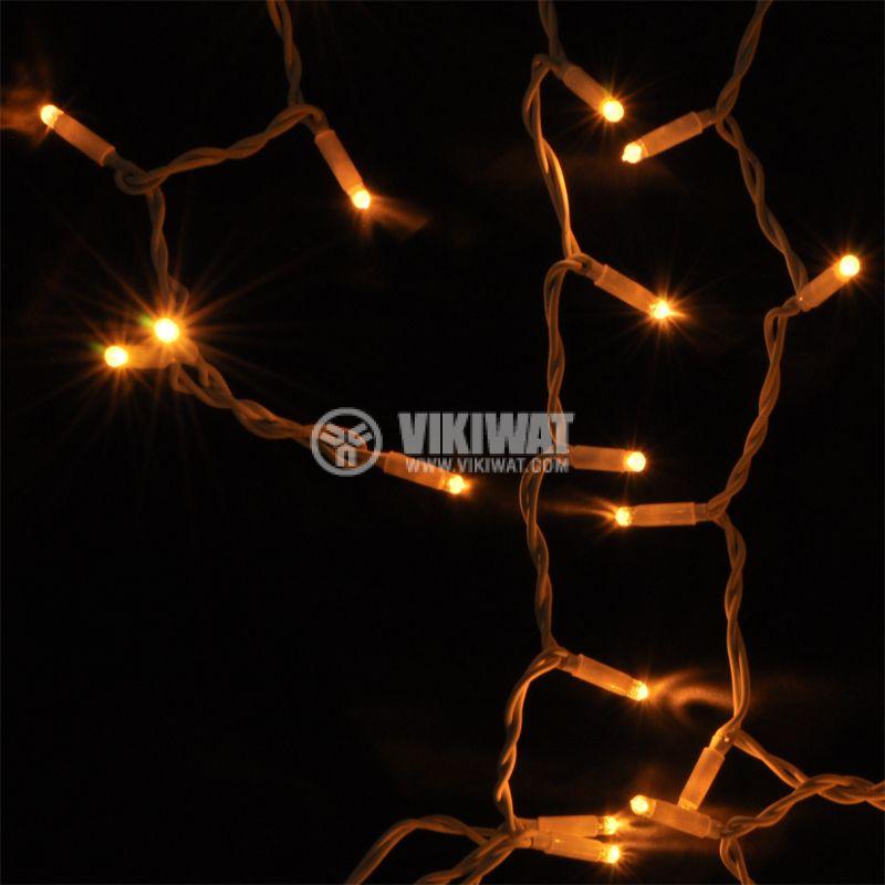 Christmas decoration lightings, 20m, 9.2W, 230V, warm white, IP44, 120 LEDs - 5
