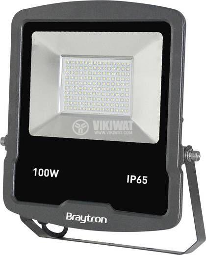 LED floodlight 100W, 220VAC, 8500lm, 6400K, cool white, IP65, waterproof, SLIM, BТ61-09132BТ61-09132 - 2