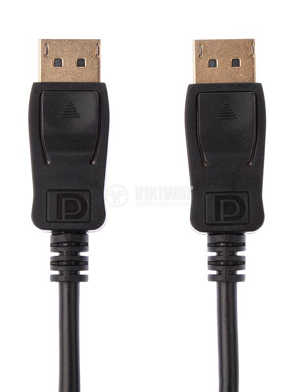 Кабел DisplayPort / M към DisplayPort / M, 1.8m, позлатени накрайници - 2