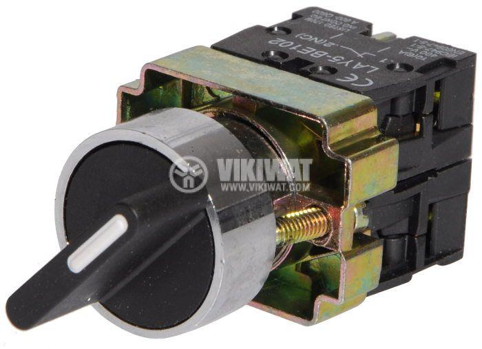 Ключ LAY5-BD25 400VAC/10A 2PDT - NО+NC черен - 2