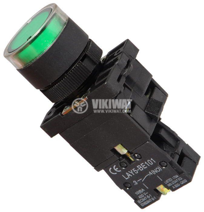 Бутон LAY5-EW3371 400VAC/10A SPST - NО - 1