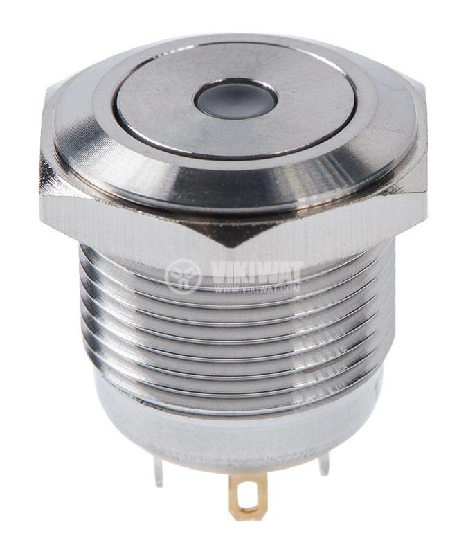 Button, V16-10D-12G-S, 2A, 36VDC, SPST NO, non-holding - 1