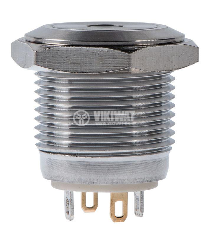 Button, V16-10D-12G-S, 2A, 36VDC, SPST NO, non-holding - 2