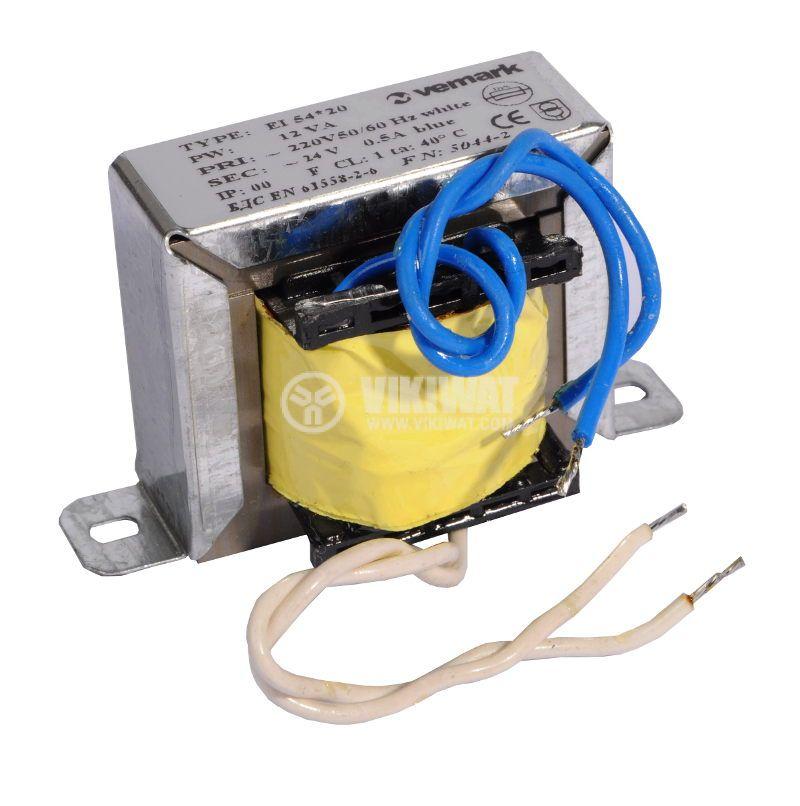 Shell Type Transformer, 230 / 24 VAC, 12 VA