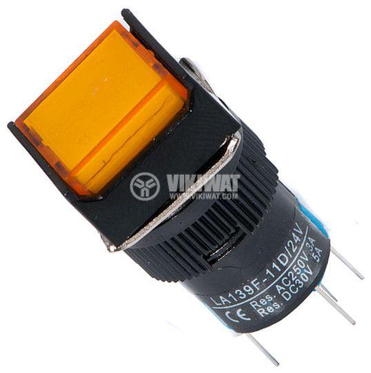 Бутон светещ тип RAFI, LA139F-11D, 24VDC, SPDT-NO+NC - 1