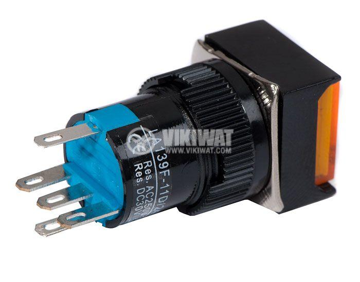 Бутон светещ тип RAFI, LA139F-11D, 24VDC, SPDT-NO+NC - 3