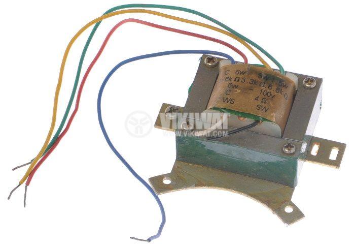 Аудио трансформатор  6 W, 70/100 V