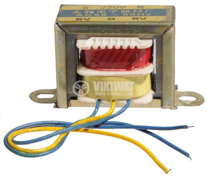 Трансформатор 220/2 x 6 VAC, 1.8 VA - 1