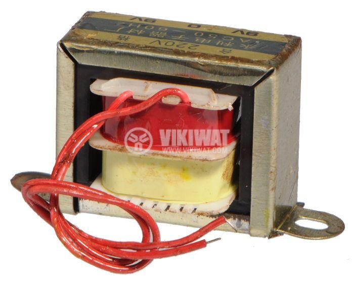 Трансформатор, 220 / 2 x 9 VAC, 6 VA - 2