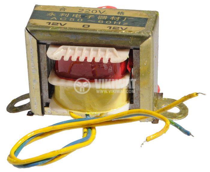Трансформатор, 230 / 2 x 12 VAC, 3.6 VA - 1