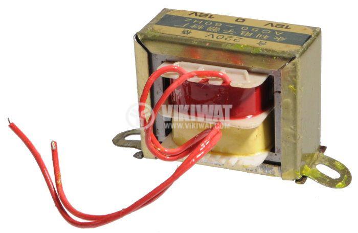 Трансформатор, 230 / 2 x 12 VAC, 3.6 VA - 2