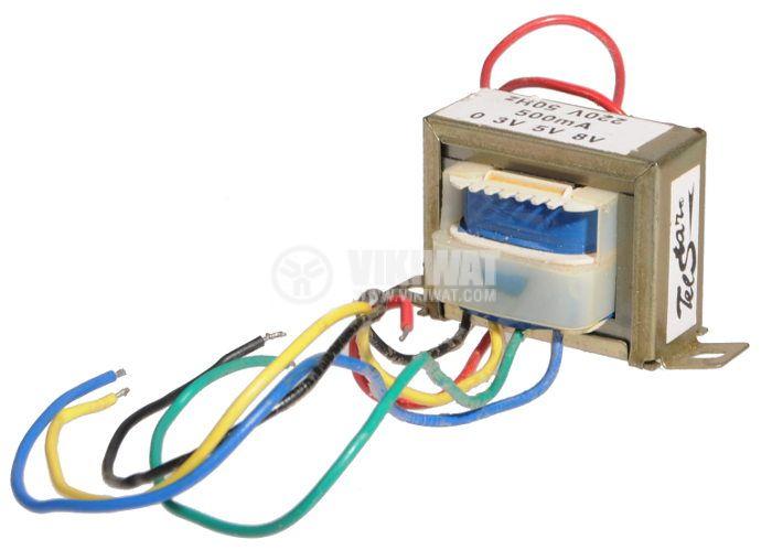 Трансформатор 1.5 - 2.5 - 4 VA, 3 - 5 - 8 VAC - 1