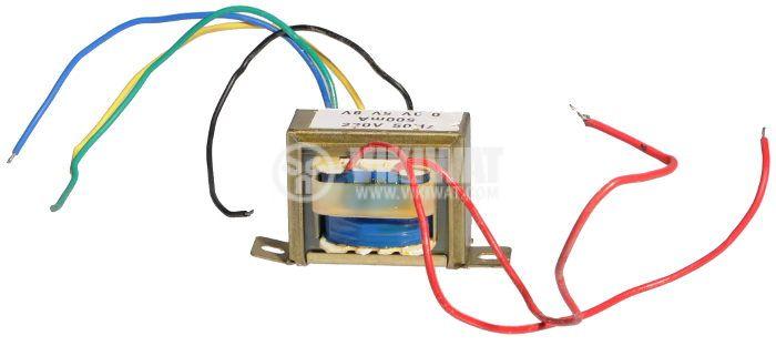 Трансформатор 1.5 - 2.5 - 4 VA, 3 - 5 - 8 VAC - 2