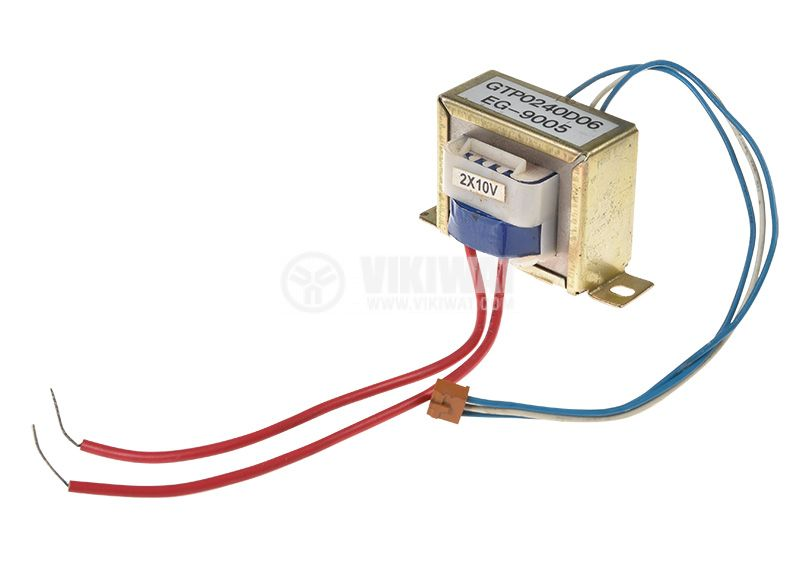 Трансформатор 230VAC, 2x10VAC  - 2