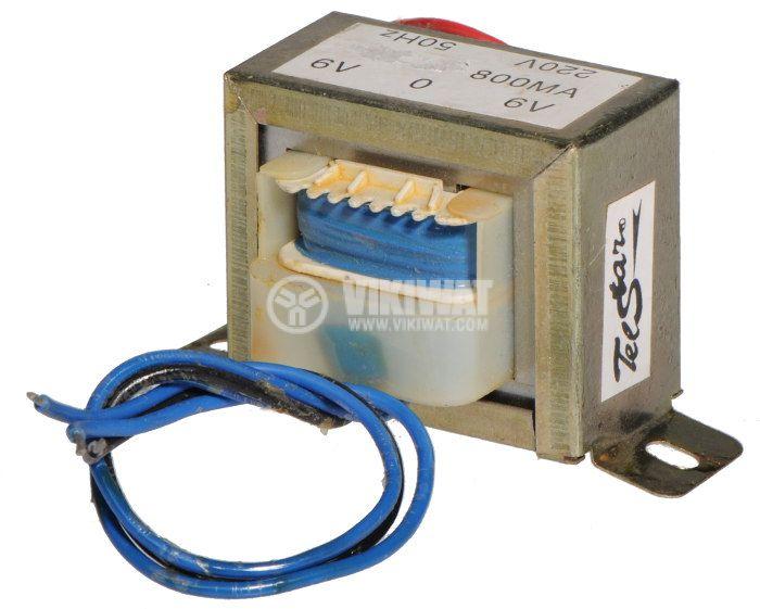 Tрансформатор 220 / 2 x 6 VAC, 4.8 VA - 2