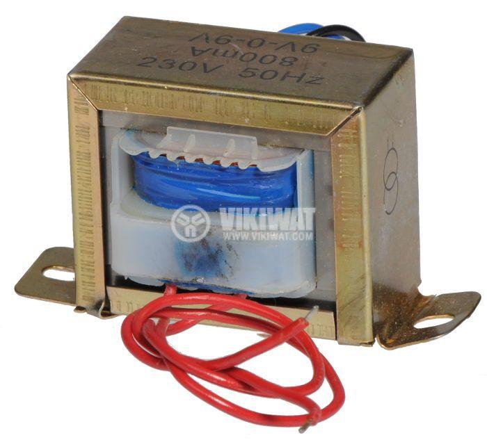 Трансформатор 220 / 2 x 9 VAC, 7.2 VA - 2