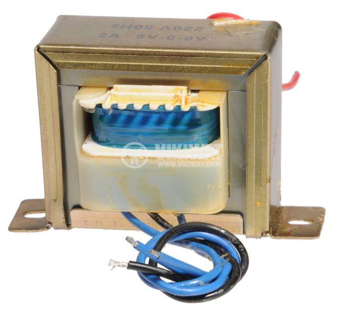 Трансформатор, 220 / 2 x 9 VAC, 18 VA - 1