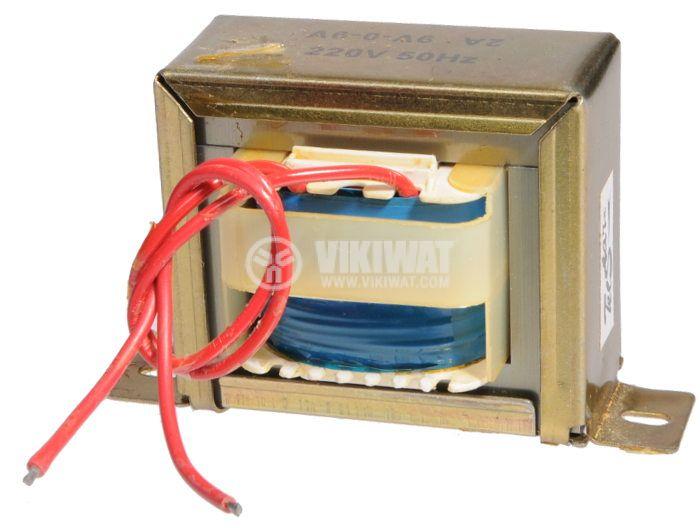 Трансформатор, 220 / 2 x 9 VAC, 18 VA - 2