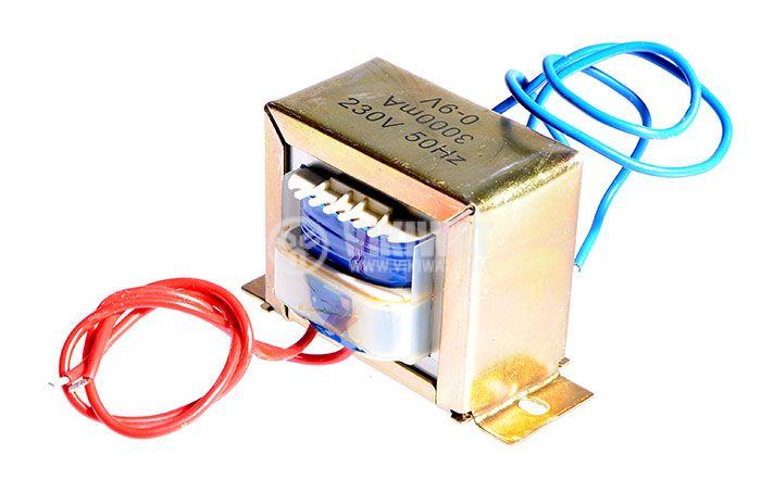 Трансформатор 220 /  9 VAC,  27 VA