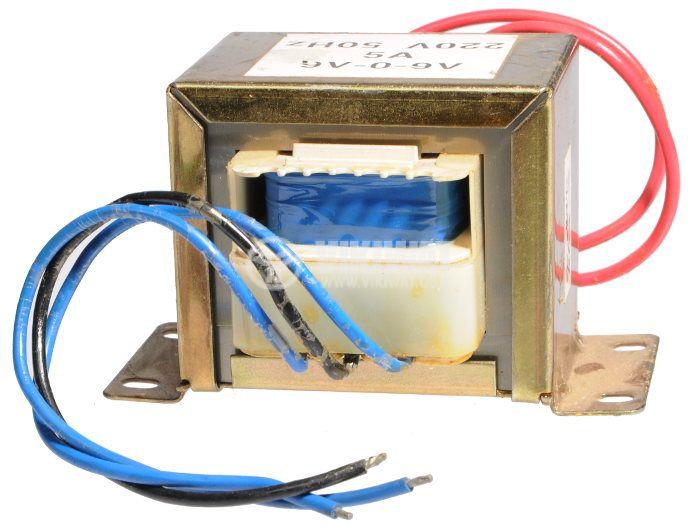Трансформатор 220 / 2 x 9 VAC, 45VA  - 1